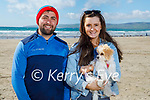 Enjoying a stroll in Banna on Sunday, l to r: Sean O'Connor, Siobhan Bustin and Molly the dog.
