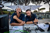 SACCHI Luca (L), MECAROZZI Tommaso<br /> RAI Sport<br /> Roma 12/08/2020 Foro Italico <br /> FIN 57 Trofeo Sette Colli - Campionati Assoluti 2020 Internazionali d'Italia<br /> Photo Giorgio Scala/DBM/Insidefoto