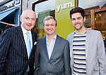 "L-R .Niall O'Farrell,  Darron Mahon & Edward Smith at the Launch of ""Yum Restaurant"", last night 1st Aug at 87 Camden St, Dublin 2. .******NO REPRO FEE******"