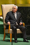 General Assembly Seventy-fourth session, 7th plenary meeting<br /> <br /> <br /> His Excellency Mahmoud Abbas, President, State of Palestine
