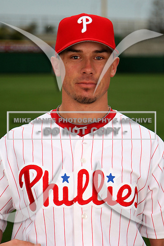 February 24, 2010:  Catcher John Suomi (73) of the Philadelphia Phillies poses during photo day at Bright House Field in Clearwater, FL.  Photo By Mike Janes/Four Seam Images