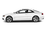 Car driver side profile view of a 2014 Audi A5 Premium Quattro 2 Door Coupe