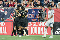 FOXBOROUGH, MA - AUGUST 4: Los Angeles FC players celebrate Latif Blessing's goal during a game between Los Angeles FC and New England Revolution at Gillette Stadium on August 3, 2019 in Foxborough, Massachusetts.