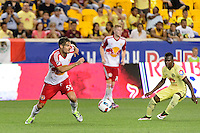 Harrison, NJ - Wednesday July 06, 2016: Damien Perrinelle during a friendly match between the New York Red Bulls and Club America at Red Bull Arena.