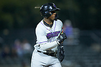 Yeyson Yrizarri (2) of the Winston-Salem Dash hustles down the first base line against the Myrtle Beach Pelicans at TicketReturn.com Field on May 16, 2019 in Myrtle Beach, South Carolina. The Dash defeated the Pelicans 6-0. (Brian Westerholt/Four Seam Images)
