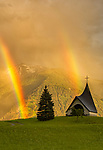 Rainbow at chapel by Emanuele Battisti