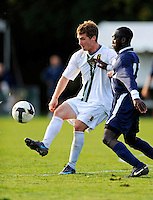 15 October 2008: University of Vermont Catamount midfielder/forward Jordan Crasilneck, a Senior from Eugene, OR, in action against the University of New Hampshire Wildcats at Centennial Field, in Burlington, Vermont. The Wildcats and Catamounts battled in overtime to a 0-0 tie...Mandatory Photo Credit: Ed Wolfstein Photo