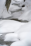 Snow Covered Brook in Rural Walpole, New Hampshire