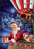 Interlitho, Simonetta, CHRISTMAS SANTA, SNOWMAN, paintings, santa, balloon, gifts, KL5898,#x# Weihnachtsmänner, Papá Noel, Weihnachten, Navidad, illustrations, pinturas klassisch, clásico