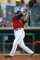 April 19 2009: David Flores of the Lancaster JetHawks bats against the High Desert Mavericks at Clear Channel Stadium in Lancaster,CA.  Photo by Larry Goren/Four Seam Images