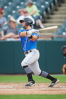 Akron RubberDucks third baseman Joe Sever (9) at bat during the first game of a doubleheader against the Bowie Baysox on June 5, 2016 at Prince George's Stadium in Bowie, Maryland.  Bowie defeated Akron 6-0.  (Mike Janes/Four Seam Images)