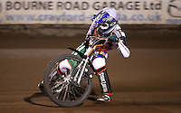Connor Coles of Mildenhall Fen Tigers - National League Pairs, The Rico Spring Classic at the Arena Essex Raceway, Pufleet - 20/03/15 - MANDATORY CREDIT: Rob Newell/TGSPHOTO - Self billing applies where appropriate - 0845 094 6026 - contact@tgsphoto.co.uk - NO UNPAID USE