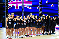 24th September 2021: Christchurch, New Zealand;  The Silver Ferms during the third Cadbury Netball Series/Taini Jamison Trophy, New Zealand Silver Ferns versus England Roses, Christchurch Arena, Christchurch, New Zealand