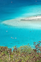View of Waterlemon Cay and Leinster Bay<br /> from the Johnny Horn Trail<br /> Virgin Islands National Park<br /> St. John<br /> U.S. Virgin Islands