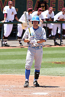 Dean Espy #14 of the UCLA Bruins plays against the Arizona State Sun Devils on May 29, 2011 at Packard Stadium, Arizona State University, in Tempe, Arizona. .Photo by:  Bill Mitchell/Four Seam Images.