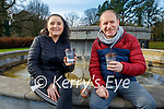 Mary Moriarty and James McCarthy enjoying a coffee in the Tralee town park on Saturday.