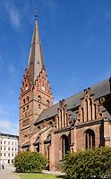 gotische St.Petri-Kirche (14.Jh.) in Malmö, Provinz Skåne (Schonen), Schweden, Europa<br /> Gothic St.Peter's Church in Malmo, Sweden