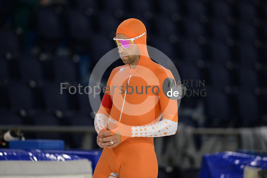 SCHAATSEN: HEERENVEEN: IJsstadion Thialf, 10-10-2020, KNSB Trainingswedstrijd, Crispijn Ariëns, ©foto Martin de Jong