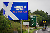 Welcome to Scotland  road sign, Dumfries and Galloway.