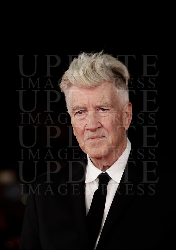 Il regista statunitense David Lynch posa sul red carpet della Festa del Cinema di Roma, 4 novembre 2017 .<br /> US director David Lynch poses on the red carpet at the international Rome Film Festival at Rome's Auditorium, November 4, 2017  .<br /> UPDATE IMAGES PRESS/Isabella Bonotto
