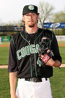 April 11 2010: Chris Mederos of the Kane County Cougars at Elfstrom Stadium in Geneva, IL. The Cougars are the Low A affiliate of the Oakland A's. Photo by: Chris Proctor/Four Seam Images