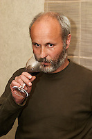 Thierry Allemand, owner and winemaker of Domaine Thierry Allemand, Cornas, Rhone, France.  Cornas, Ardeche, Ardèche, France, Europe