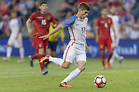 Kansas City, KS. - May 28, 2016: The U.S. Men's national team take a 4-0 lead over Bolivia in second half action from a goal by Christian Pulisic during an international friendly tuneup match prior to the opening of the 2016 Copa America Centenario at Children's Mercy Park.