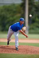 Toronto Blue Jays pitcher Justin Watts (32) delivers a pitch during an Instructional League game against the Philadelphia Phillies on September 30, 2017 at the Carpenter Complex in Clearwater, Florida.  (Mike Janes/Four Seam Images)
