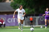 SANFORD, FL - APRIL 3: Emily Madril #25 of Florida State dribbles the ball during a game between Florida State Seminoles and Orlando Pride at Sylvan Park Training Center on April 3, 2021 in Sanford, Florida.