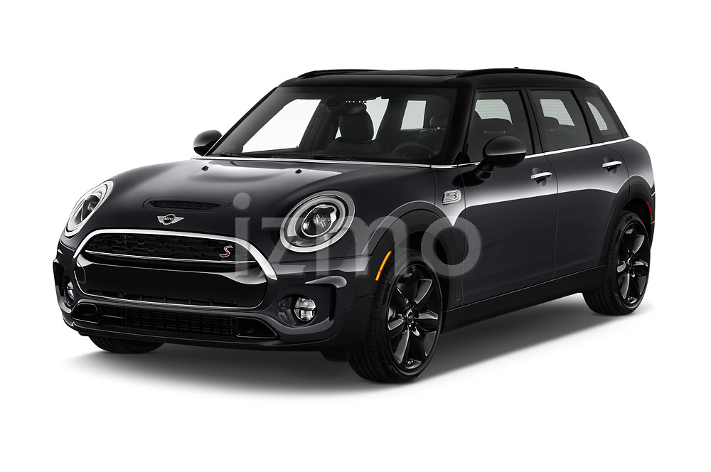 2017 MINI Cooper Clubman-S-ALL4 5 Door Wagon Angular Front stock photos of front three quarter view