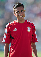 PASADENA, CA – June 25, 2011: Mexico player Jesus Zavala (13) before the Gold Cup Final match between USA and Mexico at the Rose Bowl in Pasadena, California. Final score USA 2 and Mexico 4.