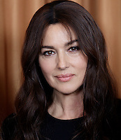 Montreal- CANADA - October 15  - <br /> Italian actress Monica Bellucci meet the media while filming VILLE-MARIE (Directed by Guy Edoin), October 15, 2014 in Montreal, Canada.<br /> <br /> Note : no sales in Canada