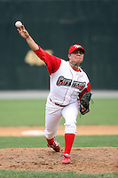 July 4th 2008:  Michael Cisco of the Williamsport Crosscutters, Class-A affiliate of the Philadelphia Phillies, during a game at Bowman Field in Williamsport, PA.  Photo by:  Mike Janes/Four Seam Images
