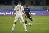 SAN JOSE, CA - SEPTEMBER 05: Oswaldo Alanis #4 during a game between Colorado Rapids and San Jose Earthquakes at Earthquakes Stadium on September 05, 2020 in San Jose, California.
