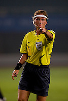 Nicole Petignat. The US lost to Norway, 2-0, during first round play at the 2008 Beijing Olympics in Qinhuangdao, China.