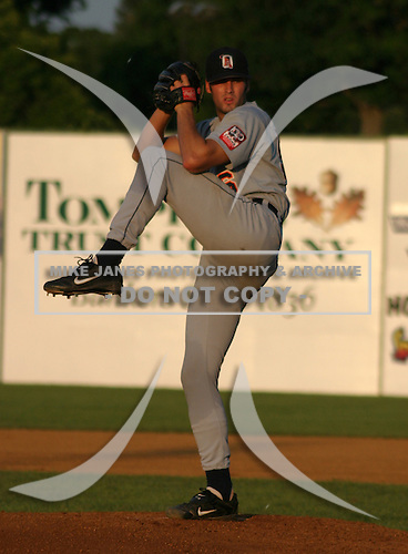 August 14, 2003:  Pitcher Matt Pender of the Oneonta Tigers during a game at Doubleday Field in Auburn, New York.  Photo by:  Mike Janes/Four Seam Images
