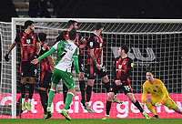 12th January 2021; Vitality Stadium, Bournemouth, Dorset, England; English Football League Championship Football, Bournemouth Athletic versus Millwall; the free kick from Jed Wallace of Millwall finds its way through the Bournemouth wall forcing a save from Asmir Begovic of Bournemouth