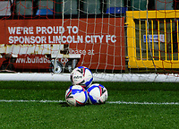 A general view of LNER Stadium, home of Lincoln City showing the official Mitre Match balls<br /> <br /> Photographer Andrew Vaughan/CameraSport<br /> <br /> EFL Papa John's Trophy - Northern Section - Group E - Lincoln City v Manchester City U21 - Tuesday 17th November 2020 - LNER Stadium - Lincoln<br />  <br /> World Copyright © 2020 CameraSport. All rights reserved. 43 Linden Ave. Countesthorpe. Leicester. England. LE8 5PG - Tel: +44 (0) 116 277 4147 - admin@camerasport.com - www.camerasport.com