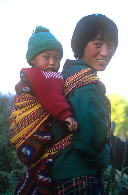 Mother & Son, Tangsibi, Bhutan