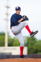 Oklahoma City RedHawks starting pitcher Tommy Shirley (24) in action against the Nashville Sounds at Greer Stadium on July 25, 2014 in Nashville, Tennessee.  The Sounds defeated the RedHawks 2-0.  (Brian Westerholt/Four Seam Images)