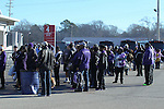 December 30, 2016: TCU fans stand outside the ticket booth at Liberty Bowl Memorial Stadium in Memphis, Tennessee before the start of the AutoZone Liberty Bowl. ©Justin Manning/Eclipse Sportswire/Cal Sport Media