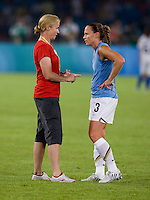 Christie Rampone, Jill Ellis. The USWNT defeated Japan, 4-2, during the semi-finals of the Beijing 2008 Olympics in Beijing, China.