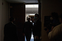 United States Senate Majority Leader Mitch McConnell (Republican of Kentucky) ignores calls for a comment from reporters as he arrives for the GOP luncheon in the Hart Senate Office Building on Capitol Hill in Washington, DC., Tuesday, June 23, 2020.<br /> Credit: Rod Lamkey / CNP/AdMedia