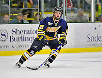 15 February 2008: Merrimack College Warriors' forward Bobby Kramer, a Freshman from New York, NY, in action against the University of Vermont Catamounts at Gutterson Fieldhouse in Burlington, Vermont. The Catamounts defeated the Warriors 4-1 in the first game of their 2-game weekend series...Mandatory Photo Credit: Ed Wolfstein Photo