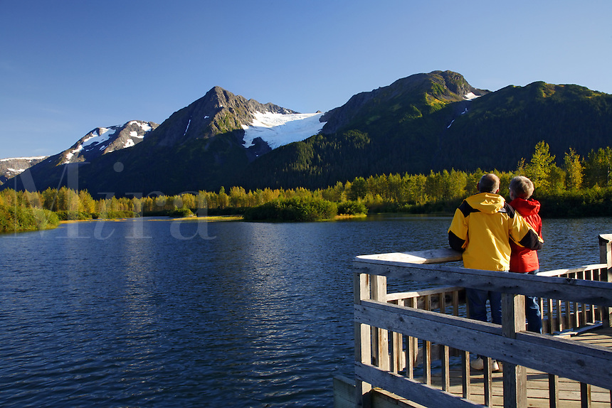 Recreating in the Portage Valley Moose Flats area, Chugach National Forest, Alaska.