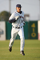 April 26 2009: Michael Moresi of the Lancaster JetHawks before game against the San Jose Giants at Clear Channel Stadium in Lancaster,CA.  Photo by Larry Goren/Four Seam Images