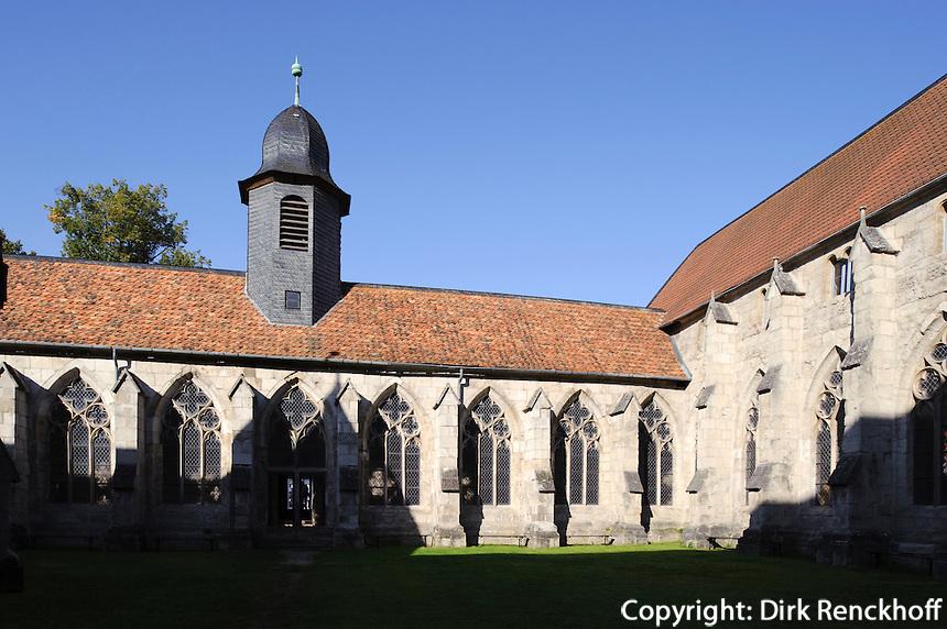 Deutschland, Niedersachsen, Walkenried, Zisterzienser-Kloster, erbaut1127, Kreuzgang