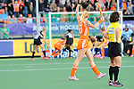 The Hague, Netherlands, June 05: Margot van Geffen #30 of The Netherlands reacts to a play during the field hockey group match (Women - Group A) between New Zealand and The Netherlands on June 5, 2014 during the World Cup 2014 at Kyocera Stadium in The Hague, Netherlands. Final score 0-2 (0-2) (Photo by Dirk Markgraf / www.265-images.com) *** Local caption ***