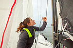 """Training Session with Loïck Peyron and Amélie Grassi onboard a Figaro Beneteau 3, preparing for the Sardinha Cup and for La Solitaire Urgo Le Figaro.<br />Tour worldist sailing and finalist of the America's Cup, Loïck Peyron is undoubtedly the most emblematic skipper of the """"French school"""" of racing, but his outstanding track record is not sufficient to define it outstanding browser. Gifted with an amazing sixth sense sailor, Loïck Peyron is also a communicator and technician extraordinary whose influence on the evolution of modern mono and multihulls is crucial for several decades. <br />The Figaro BENETEAU 3 is the first production foiling one-design monohull ever to be designed. A distillation of technology and innovation, it results from a collaboration between group BENETEAU's best experts and the Van Peteghem Lauriot-Prévost (VPLP) office, the architects of the two last boats to win the Vendée Globe.<br />The prototype has been tested and the production of the boat has been launched. It will enter the ISO/World Sailing design category A."""