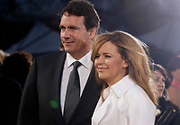 Montreal (qc) CANADA -  April 22, 2012 file photo - Quebec Media Tycoon Pierre Karl Peladeau with his long-term girlfriend Julie Snyder .<br /> <br />  Snyder is a Francophone Canadian talk show host and producer, appearing as host and guest on various television programs in Canada and France.